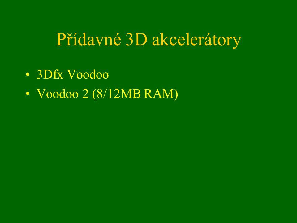 Přídavné 3D akcelerátory 3Dfx Voodoo Voodoo 2 (8/12MB RAM)