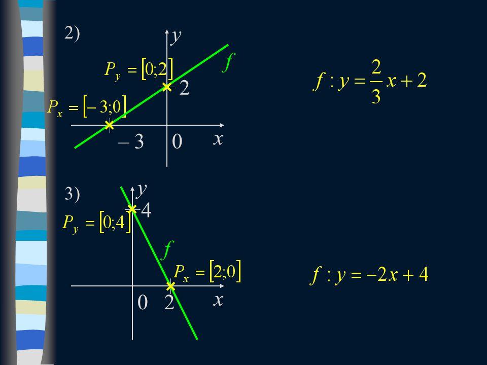 f x y 2 – 3 2) y f x 4 2 3) 0 0