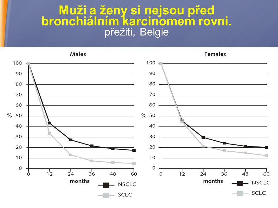 19 Muži a ženy si nejsou před bronchiálním karcinomem rovni. přežití, Belgie