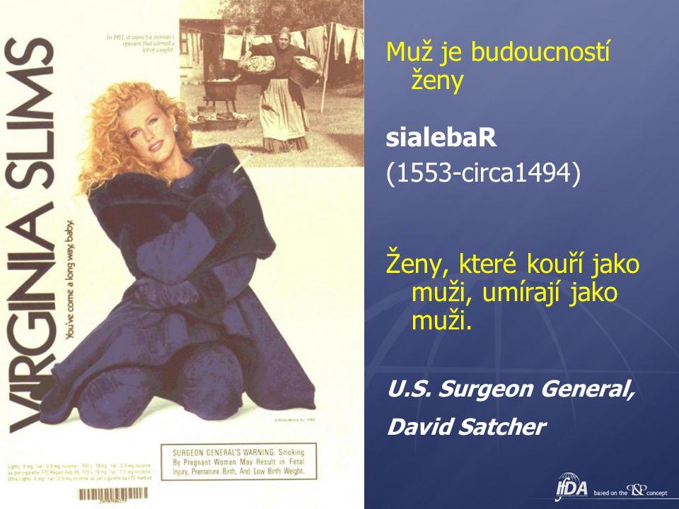21 Muž je budoucností ženy sialebaR (1553-circa1494) Ženy, které kouří jako muži, umírají jako muži. U.S. Surgeon General, David Satcher