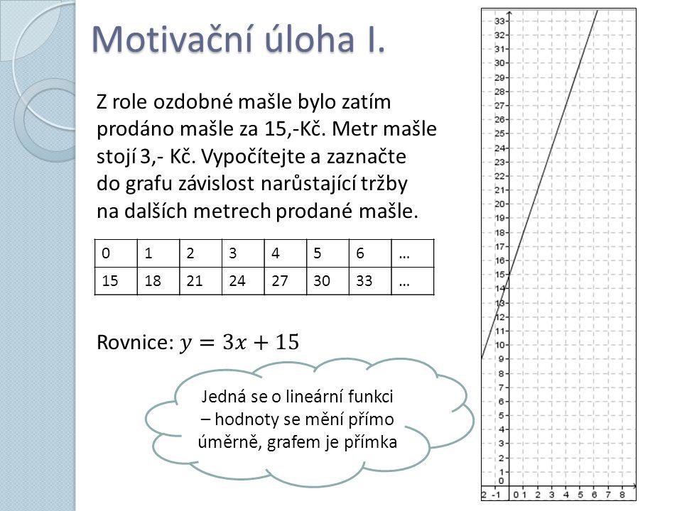 Motivační úloha I.