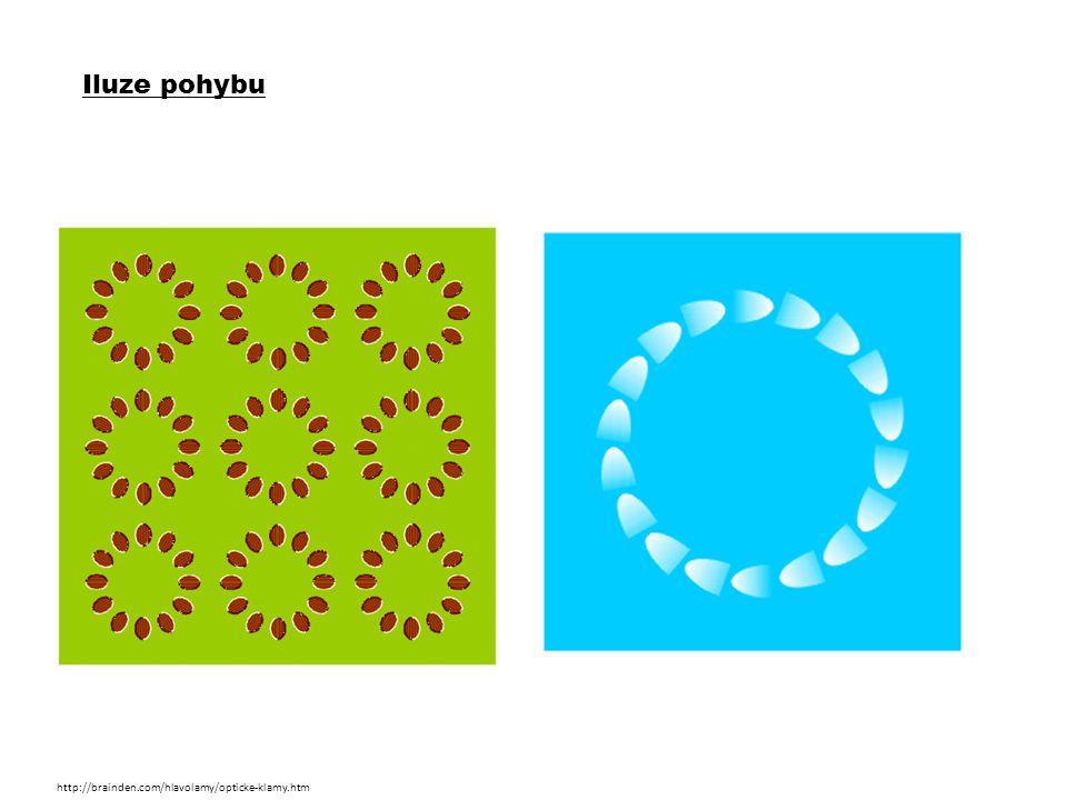 Iluze pohybu http://brainden.com/hlavolamy/opticke-klamy.htm
