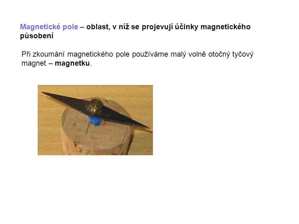 Magnetické vlastnosti látek: Elektron při svém pohybu okolo atomového jádra vytváří magnetické pole.