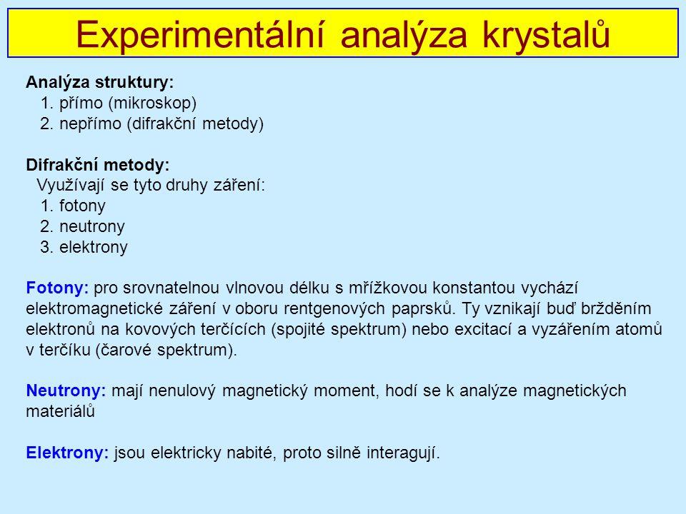 Analýza struktury: 1.přímo (mikroskop) 2.