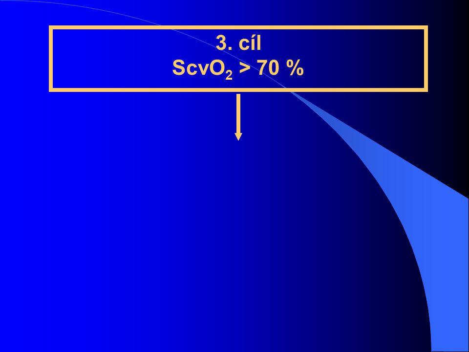 3. cíl ScvO 2 > 70 %