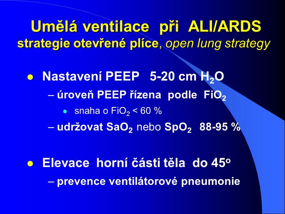 Umělá ventilace při ALI/ARDS strategie otevřené plíce, open lung strategy Umělá ventilace při ALI/ARDS strategie otevřené plíce, open lung strategy l