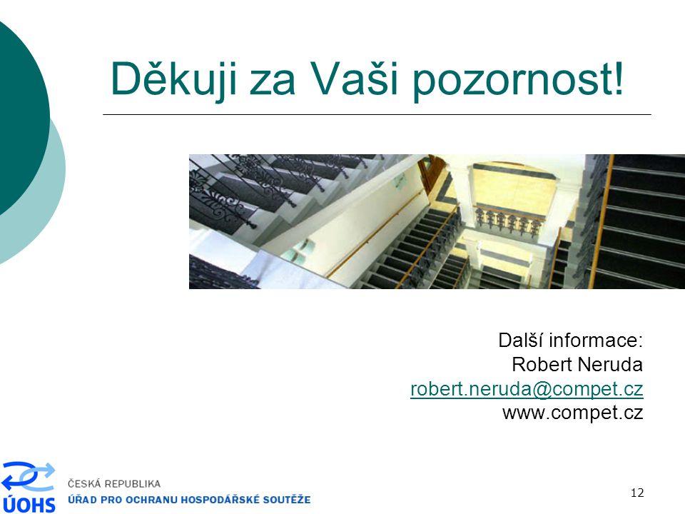12 Děkuji za Vaši pozornost! Další informace: Robert Neruda robert.neruda@compet.cz www.compet.cz
