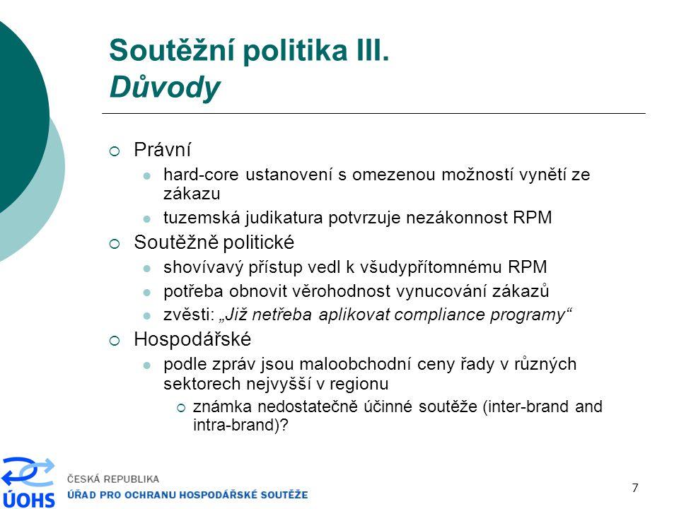 8 Soutěžní politika IV.