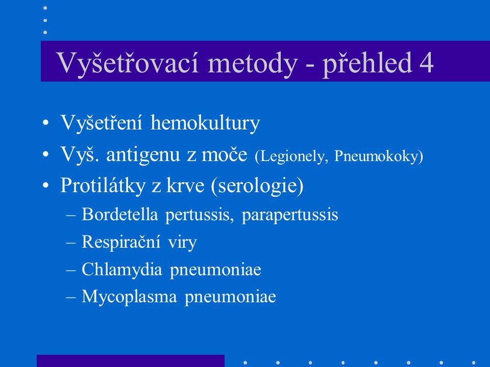 Vyšetřovací metody - přehled 4 Vyšetření hemokultury Vyš.