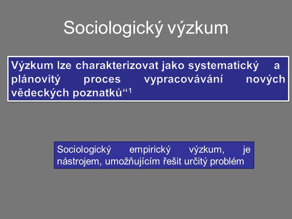 Sociologický empirický výzkum, je nástrojem, umožňujícím řešit určitý problém