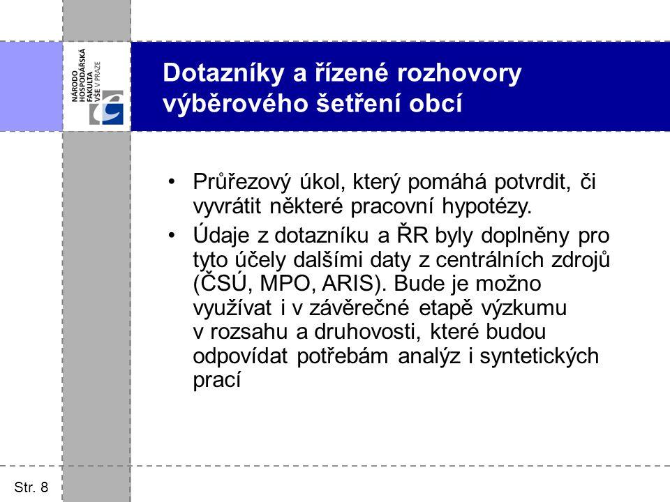 Str.9 Analýza mandatorních výdajů obcí Definovány jako povinné ze zákona.