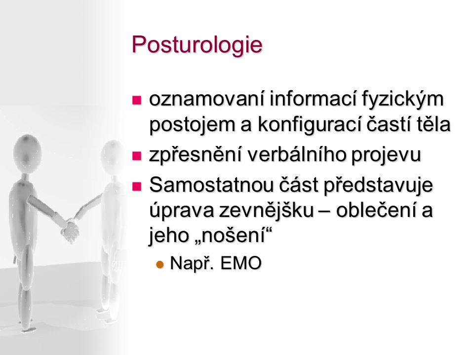 Posturologie oznamovaní informací fyzickým postojem a konfigurací častí těla oznamovaní informací fyzickým postojem a konfigurací častí těla zpřesnění