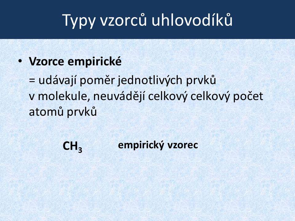 """Některé postranní řetězce (""""zbytky ) obsahující násobné vazby ethenyl (vinyl) H 2 C=CH- ethynyl HC  C- prop-2-en-1-yl -CH 2 CH=CH 2 prop-1-en-1-yl CH 3 CH=CH-"""