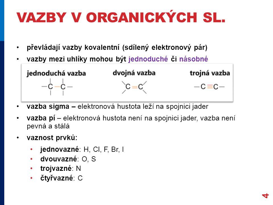 VAZBY V ORGANICKÝCH SL.