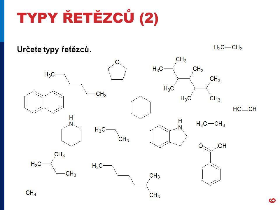 TYPY VZORCŮ (1) Chemické vzorce vyjadřují chemické složení organických sl.