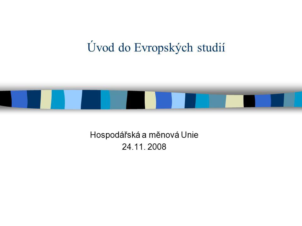 Úvod do Evropských studií Hospodářská a měnová Unie 24.11. 2008