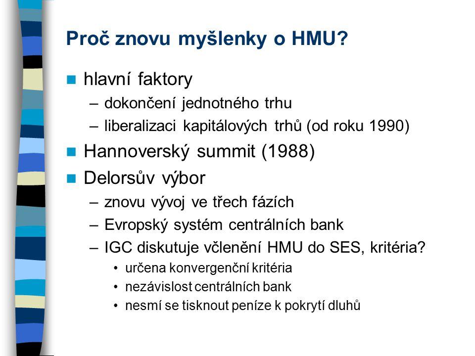 Proč znovu myšlenky o HMU.
