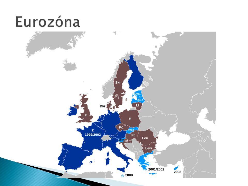  Měnovou politiku Společenství provádí Evropský systém centrálních bank (ESCB)  Ten je tvořen Evropskou centrální bankou a 28 centrálními bankami všech členských zemí  Ustanoven na základě Maastrichtské smlouvy a funguje od 1.1.1999  Evropská centrální banka spolupracuje v menší a semknutější skupině s 18 centrálními bankami států eurozóny, kteří tvoří tzv.