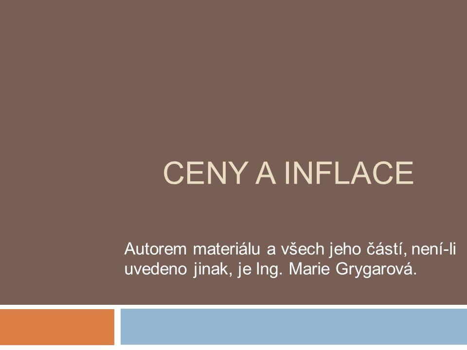 CENY A INFLACE Autorem materiálu a všech jeho částí, není-li uvedeno jinak, je Ing.