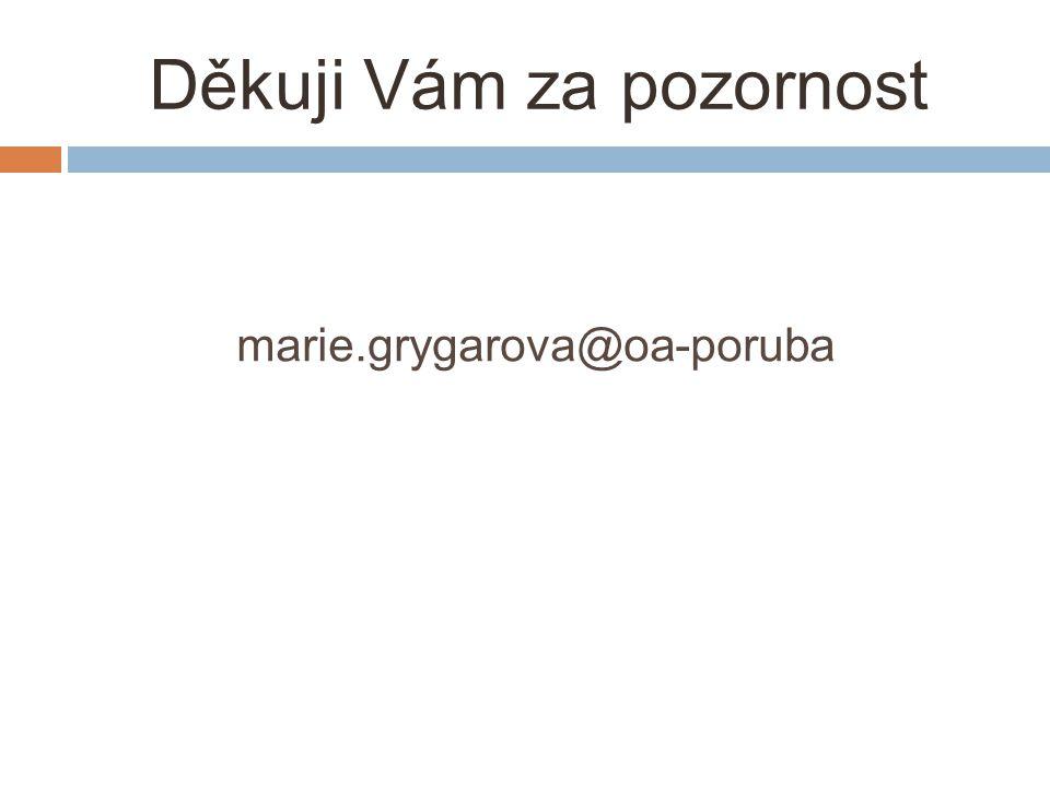 Děkuji Vám za pozornost marie.grygarova@oa-poruba
