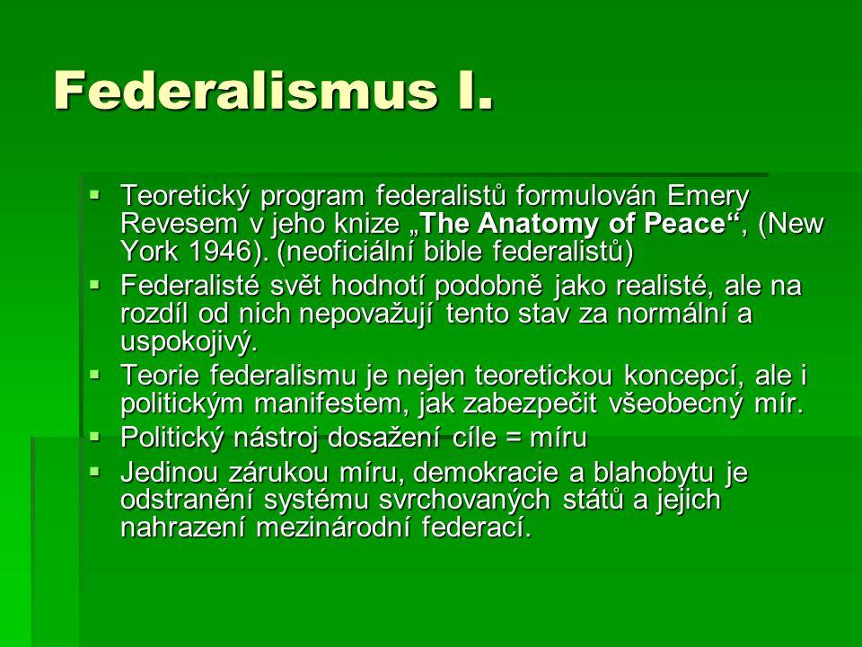 Federalismus I.