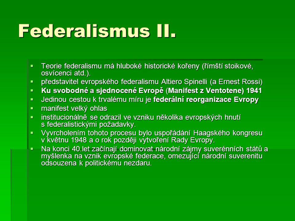 Federalismus II.