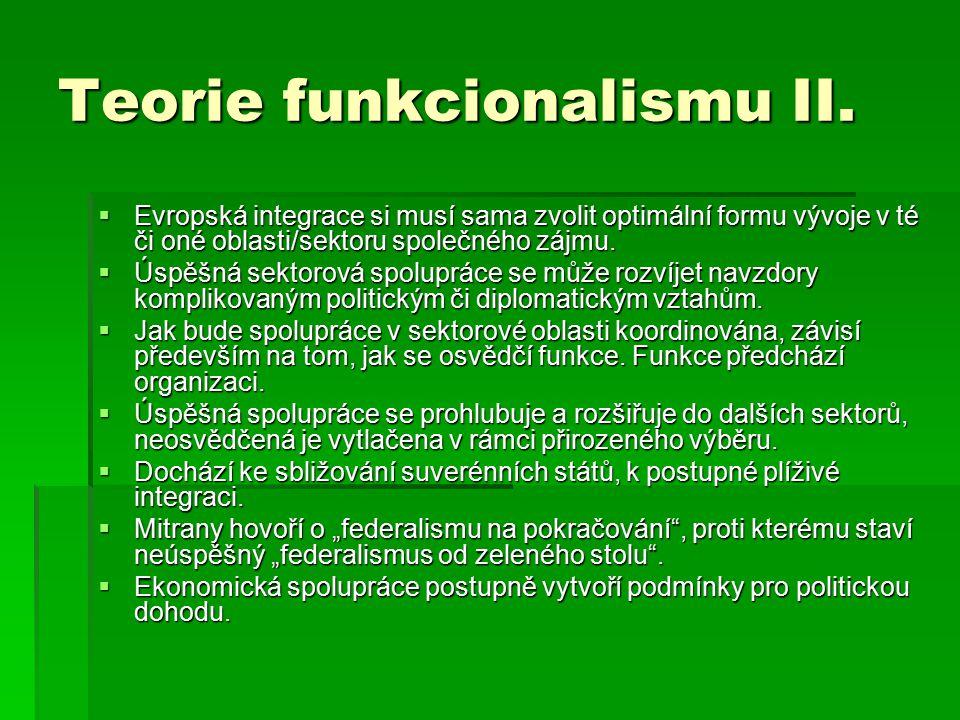 Teorie funkcionalismu II.