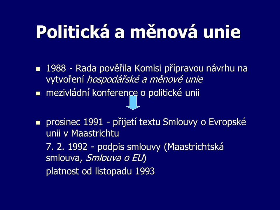 Politická a měnová unie 1988 - Rada pověřila Komisi přípravou návrhu na vytvoření hospodářské a měnové unie 1988 - Rada pověřila Komisi přípravou návr