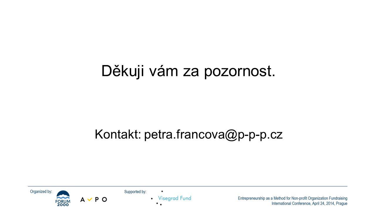 Děkuji vám za pozornost. Kontakt: petra.francova@p-p-p.cz