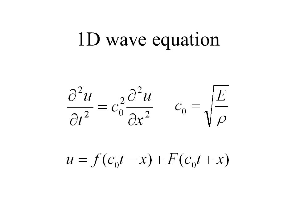 1D wave equation