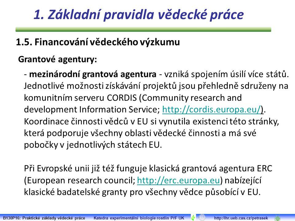 - mezinárodní grantová agentura - vzniká spojením úsilí více států.