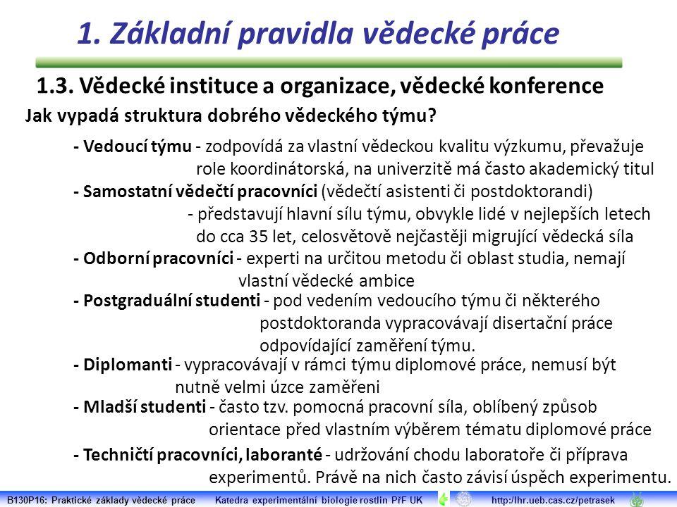 B130P16: Praktické základy vědecké práce Katedra experimentální biologie rostlin PřF UK http:/lhr.ueb.cas.cz/petrasek Průvodce vědeckým žargonem (http://texts.iddqd.cz/vedecky-zargon/) :http://texts.iddqd.cz/vedecky-zargon/ 1.