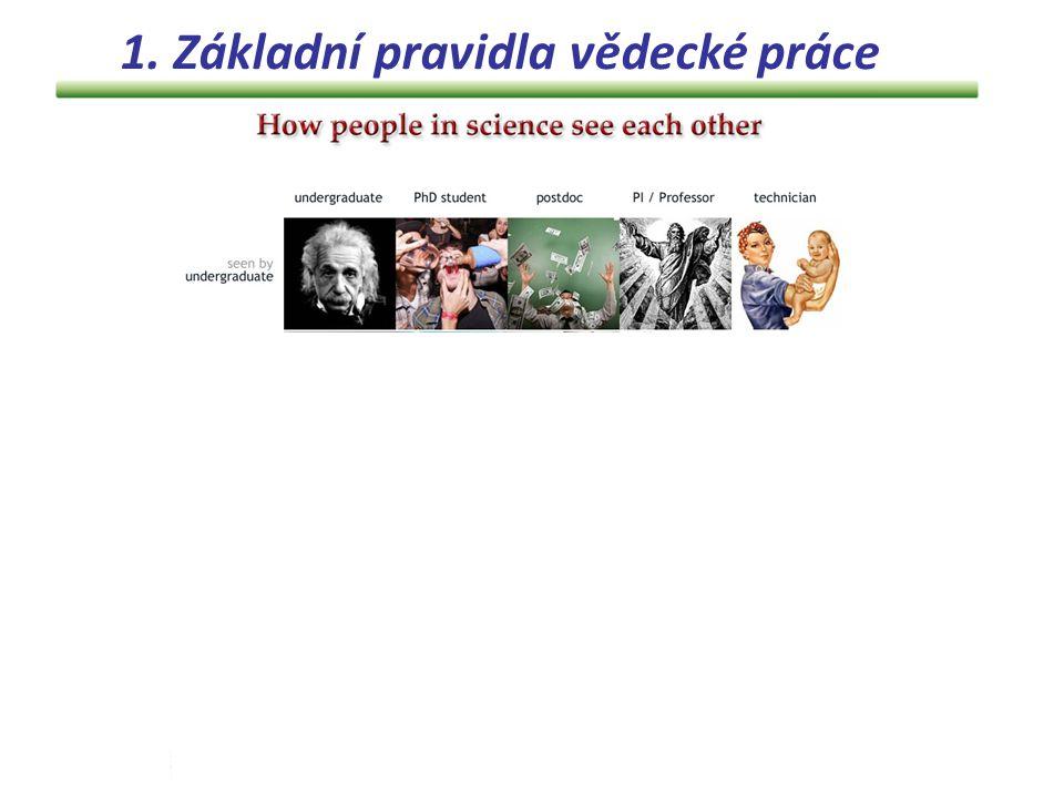 Jak vypadá struktura dobrého vědeckého týmu.