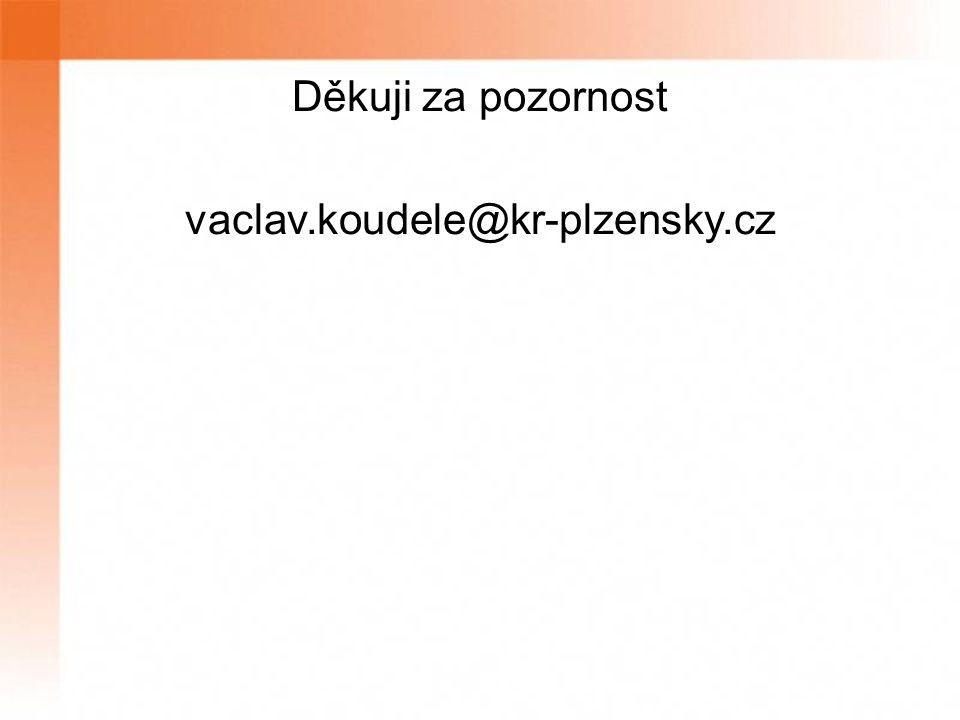 Děkuji za pozornost vaclav.koudele@kr-plzensky.cz