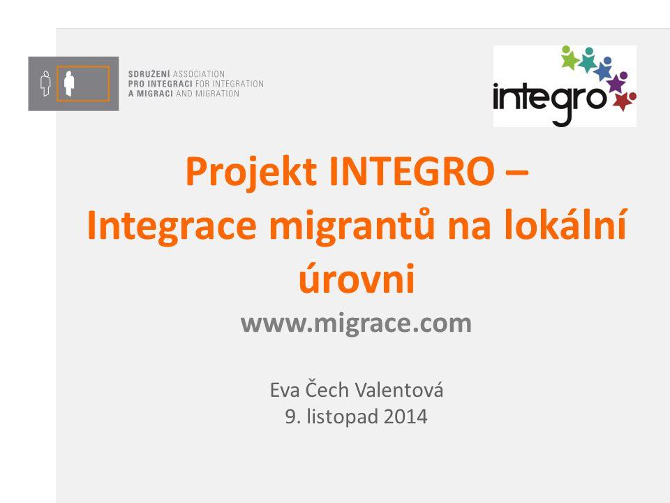 Projekt INTEGRO – Integrace migrantů na lokální úrovni www.migrace.com Eva Čech Valentová 9. listopad 2014