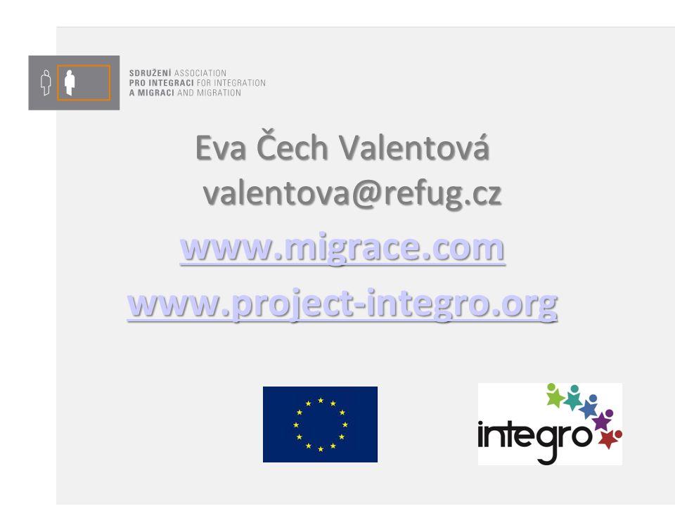 Eva Čech Valentová valentova@refug.cz www.migrace.com www.project-integro.org