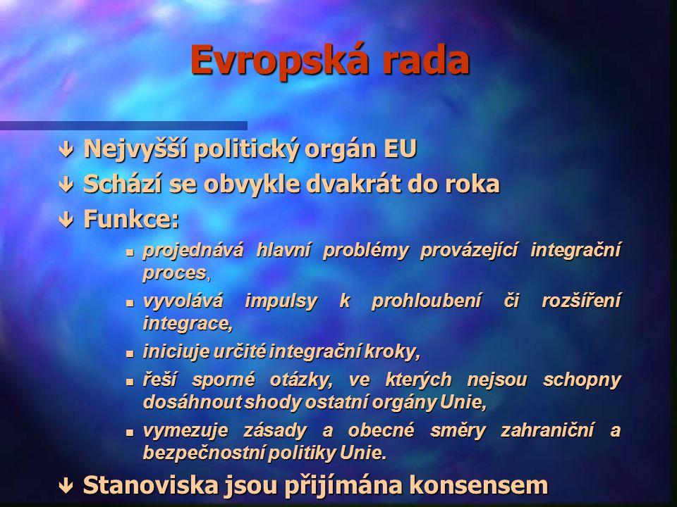 Hlavní instituce Evropské unie nEnEnEnEvropská rada nRnRnRnRada Evropské unie nEnEnEnEvropská komise nEnEnEnEvropský parlament nEnEnEnEvropský soudní