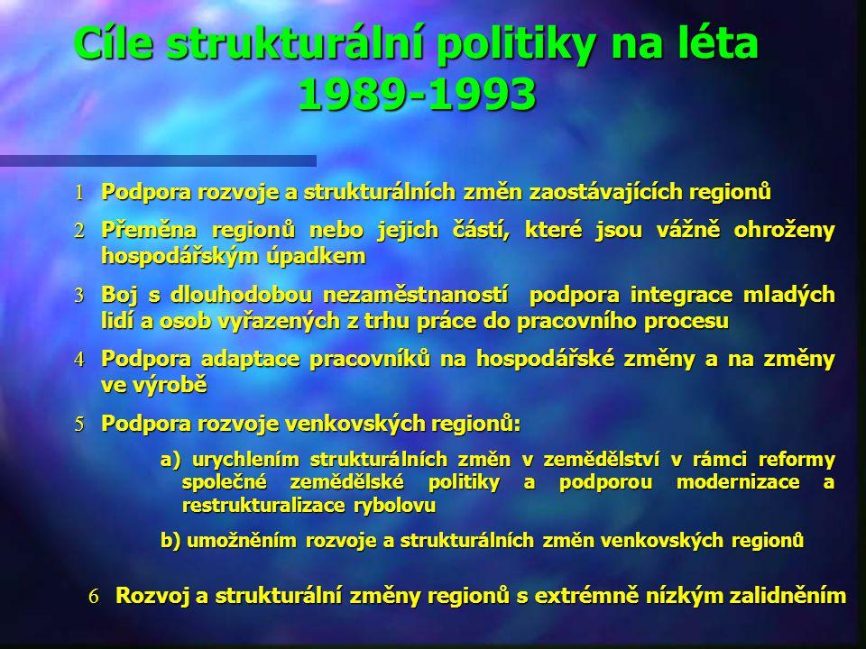 Etapy formování strukturální a regionální politiky n 1958-1973: individuální přístup k regionální politice bez jakékoliv koordinace na nadnárodní úrov