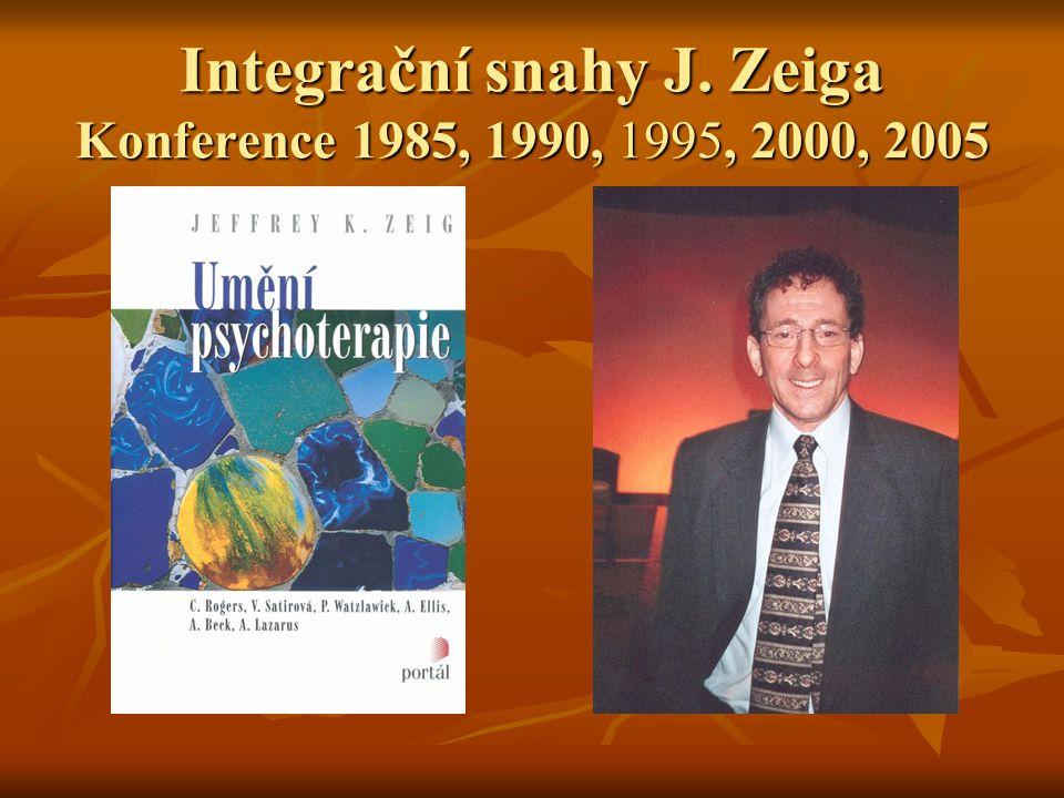 Integrační snahy J. Zeiga Konference 1985, 1990, 1995, 2000, 2005