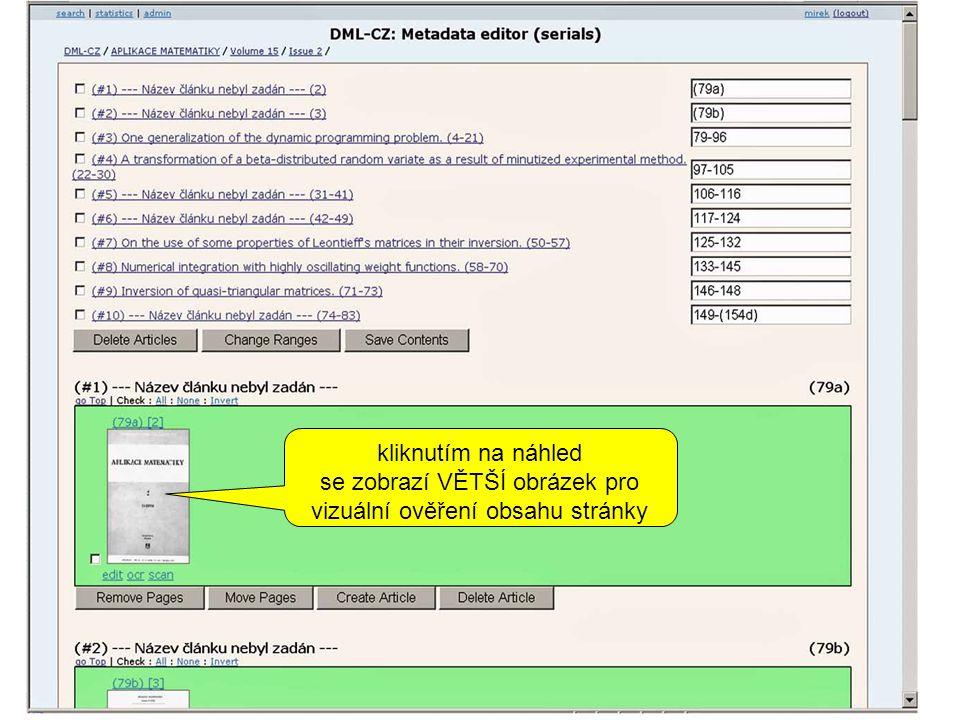 kliknutím na náhled se zobrazí VĚTŠÍ obrázek pro vizuální ověření obsahu stránky