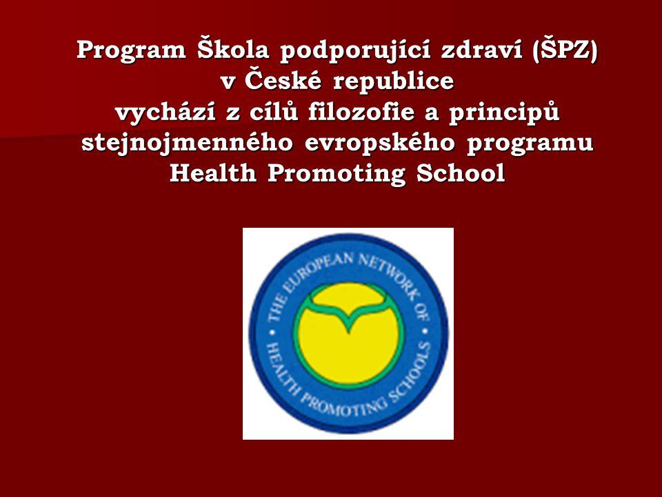 Program Škola podporující zdraví (ŠPZ) v České republice vychází z cílů filozofie a principů stejnojmenného evropského programu Health Promoting School