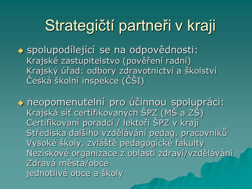 Strategičtí partneři v kraji  spolupodílející se na odpovědnosti: Krajské zastupitelstvo (pověření radní) Krajské zastupitelstvo (pověření radní) Kra