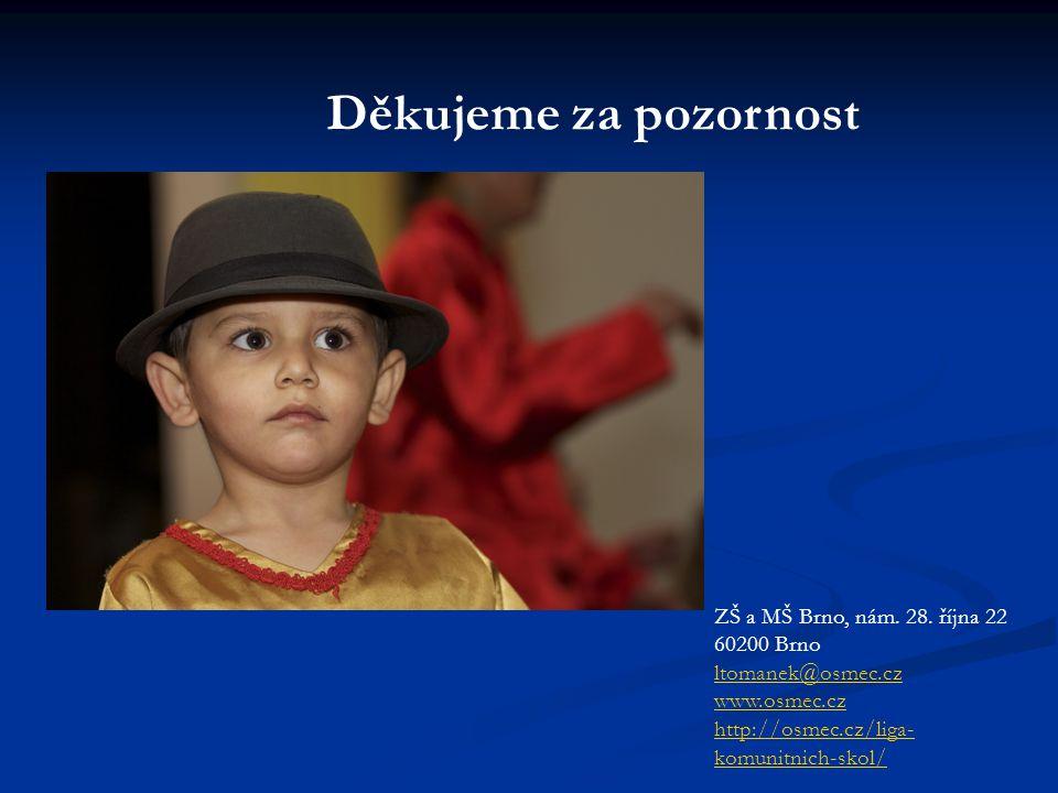 Děkujeme za pozornost ZŠ a MŠ Brno, nám.28.