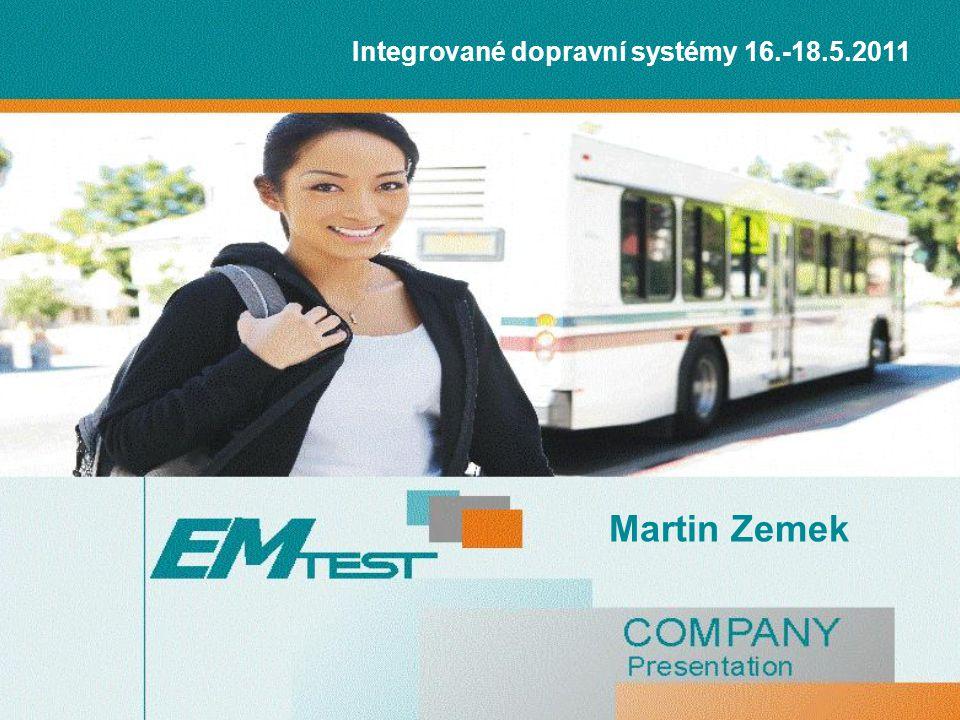 Integrované dopravní systémy 16.-18.5.2011 Martin Zemek