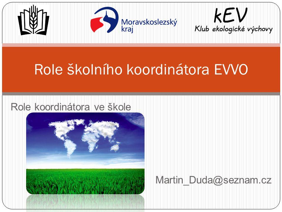 Role koordinátora ve škole Martin_Duda@seznam.cz Role školního koordinátora EVVO