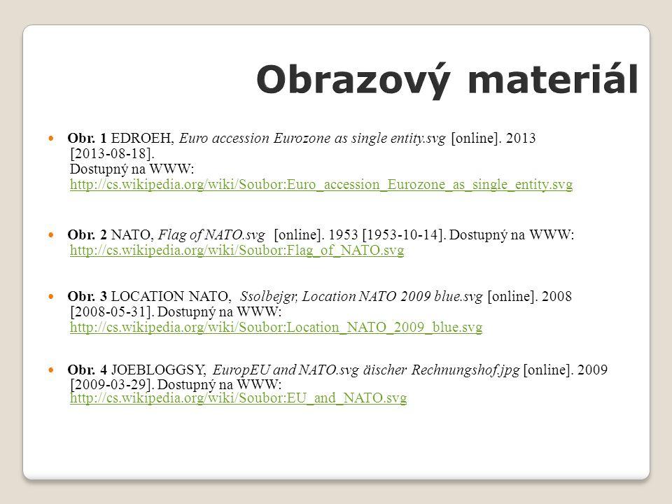 Obr. 1 EDROEH, Euro accession Eurozone as single entity.svg [online]. 2013 [2013-08-18]. Dostupný na WWW: http://cs.wikipedia.org/wiki/Soubor:Euro_acc