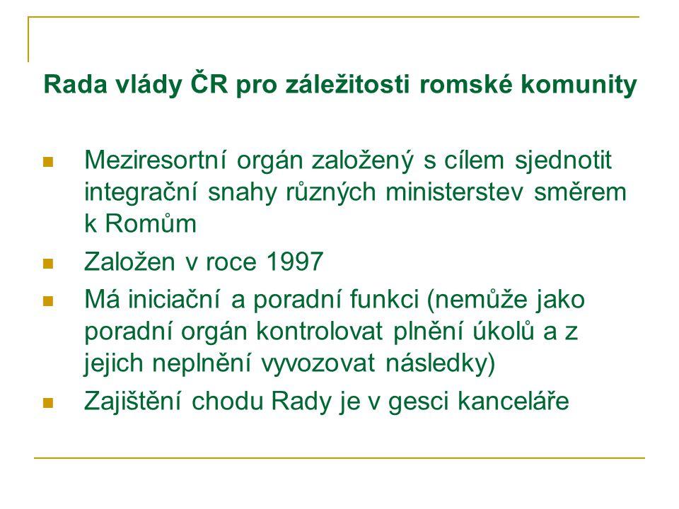 Kancelář Rady vlády ČR pro záležitosti romské komunity Kancelář Rady – pracovní tým (HPP) Mgr.