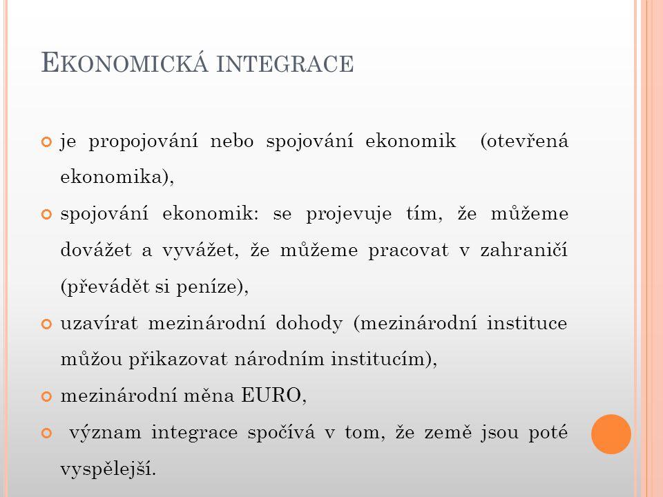 E VROPSKÁ UNIE Symboly EU: od roku 1986 se používá zástava Evropské unie, kterou přijala Evropská rada.