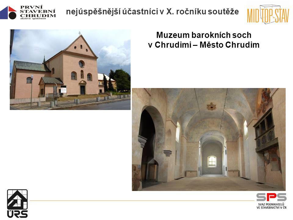 nejúspěšnější účastníci v X. ročníku soutěže Muzeum barokních soch v Chrudimi – Město Chrudim