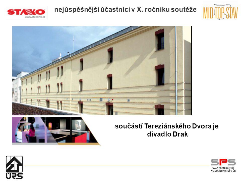 nejúspěšnější účastníci v X. ročníku soutěže : součástí Tereziánského Dvora je divadlo Drak
